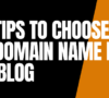 8 Best Tips To Choose The Best Domain Name For Your Blog