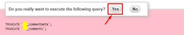 execute the query in phpmyadmin