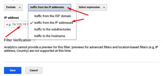put ip address in google analytics