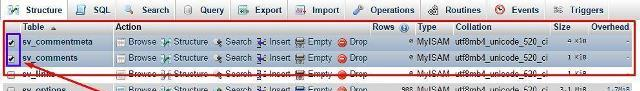 second method to delete comments from phpmyadmin