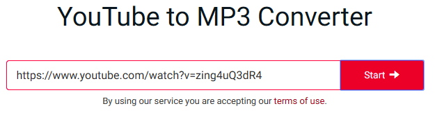 converting YouTube videos in MP3 y2mate.com